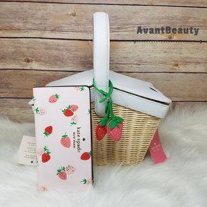 Kate Spade Wicker Basket Strawberry Bifold Wallet